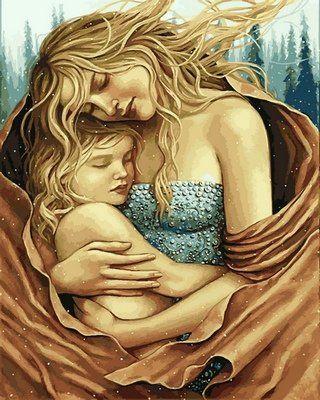 Раскраски по номерам Мать и дитя - VseTak— интернет ...