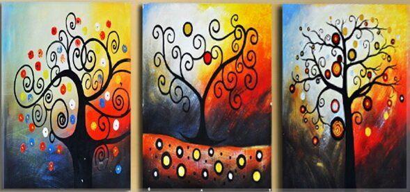 Картина раскраска модульная с нескольких частей Триптих ...