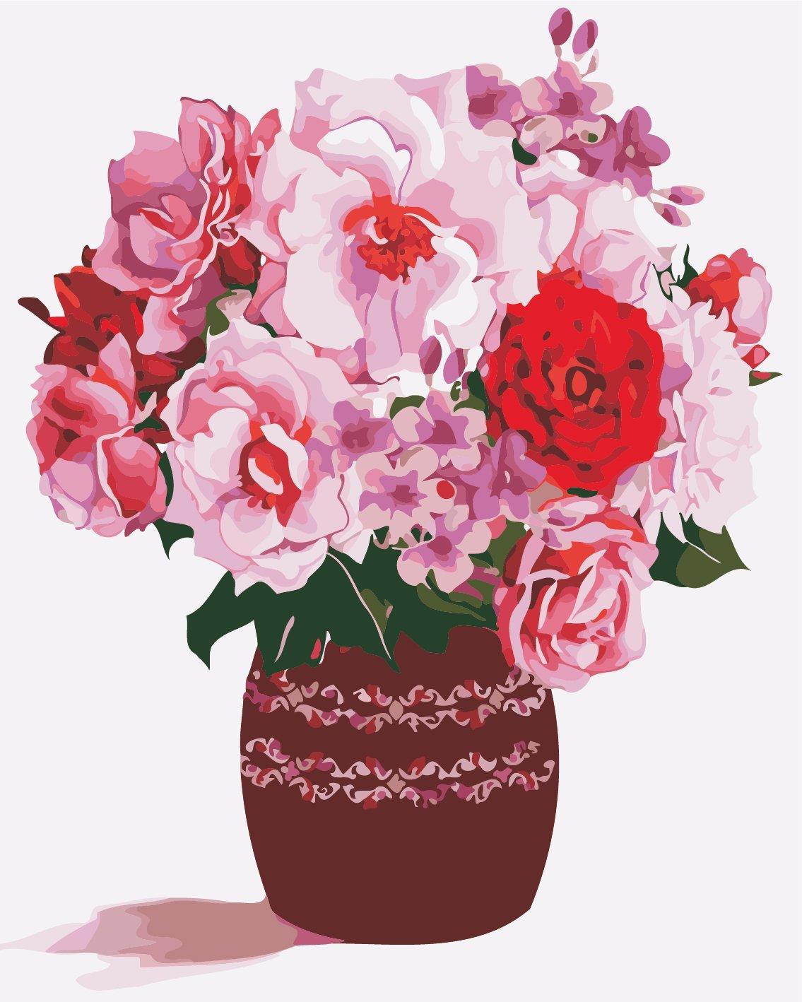 Картина по номерам Розовый букет - VseTak— интернет ...