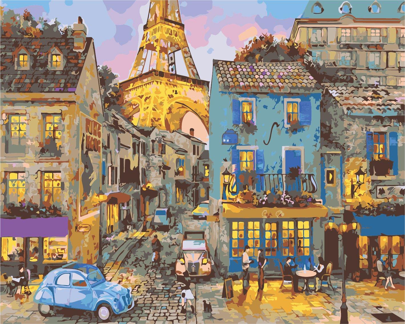 Картина по номерам Парижская улица - VseTak— интернет ...