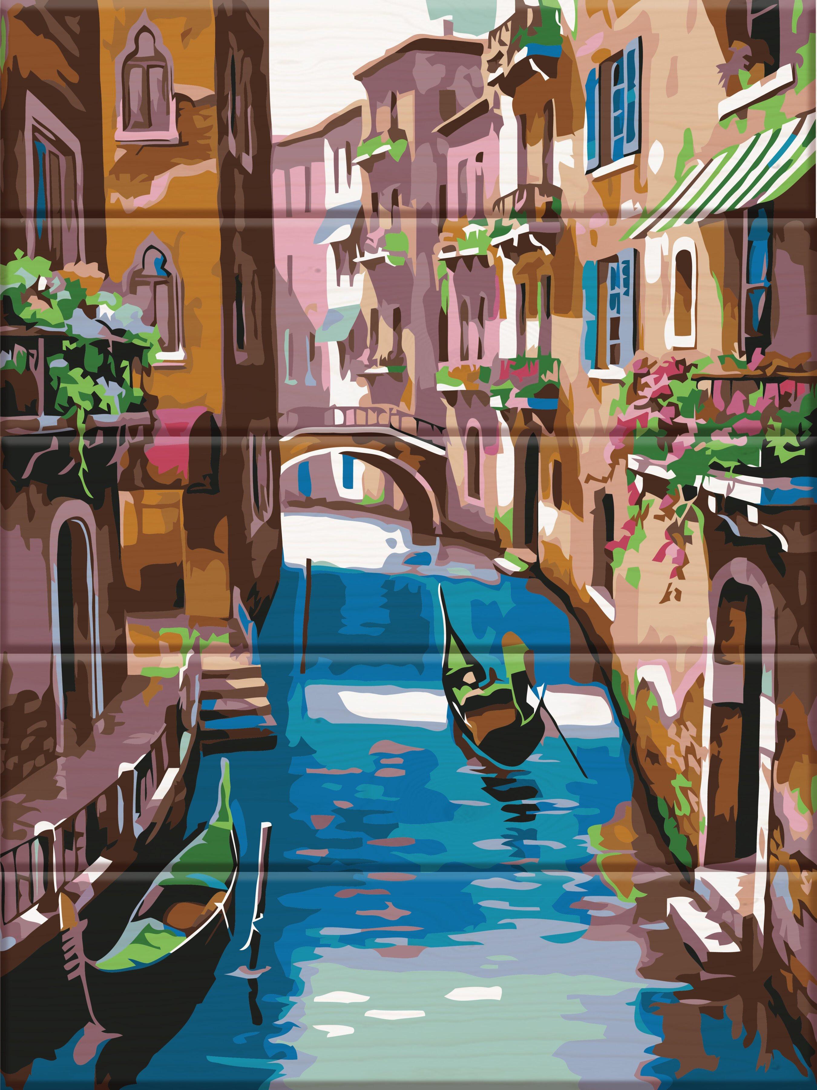 Картина по номерам на дереве Венеция - VseTak— интернет ...