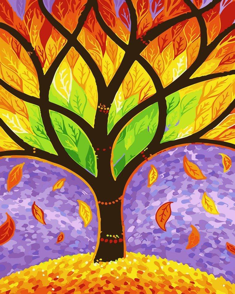 Раскраска по номерам Осень на пороге - VseTak— интернет ...