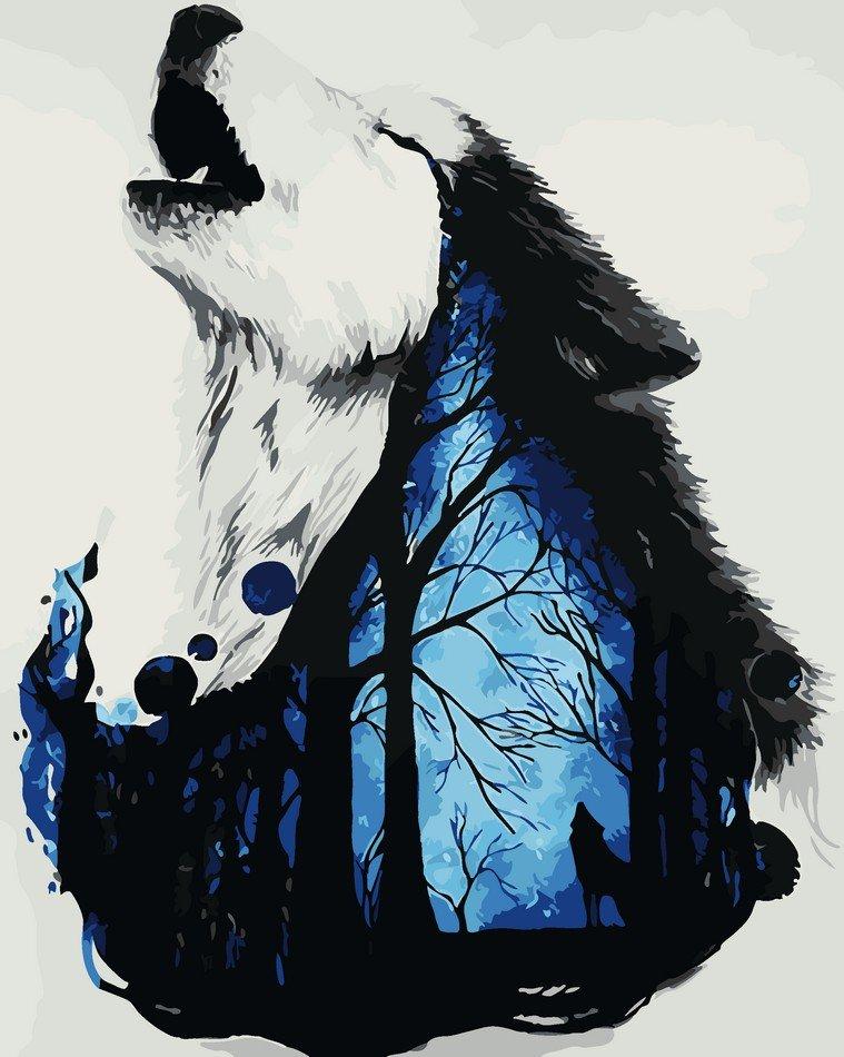 Раскраска по номерам Мистический волк - VseTak— интернет ...