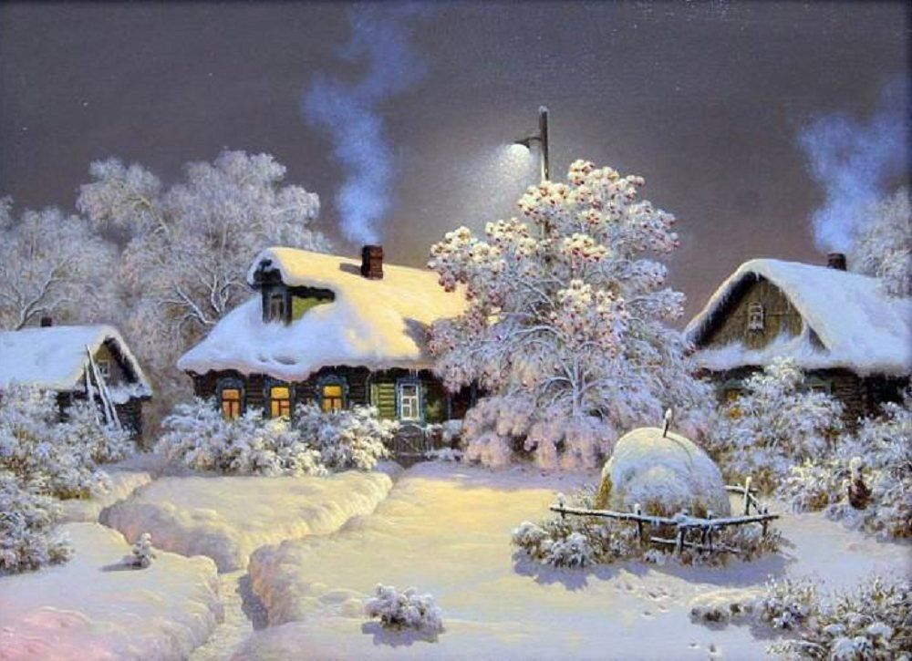 Снегопад гифка картинка для детей