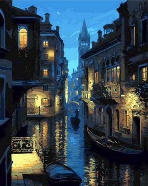 Картина раскраска по номерам Ночная Венеция - VseTak ...