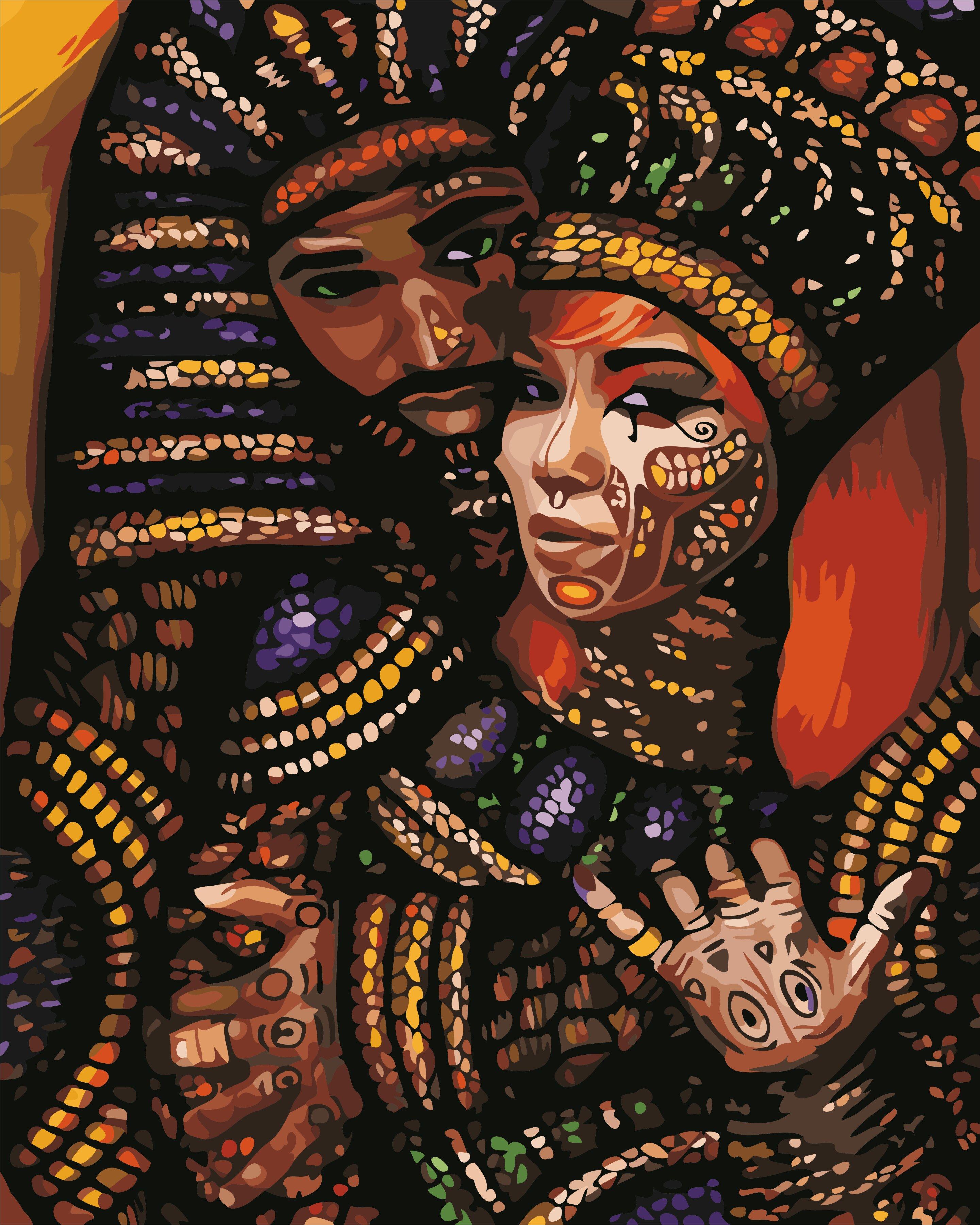 Картина антистрес по номерам Африканские мотивы АртСтори ...