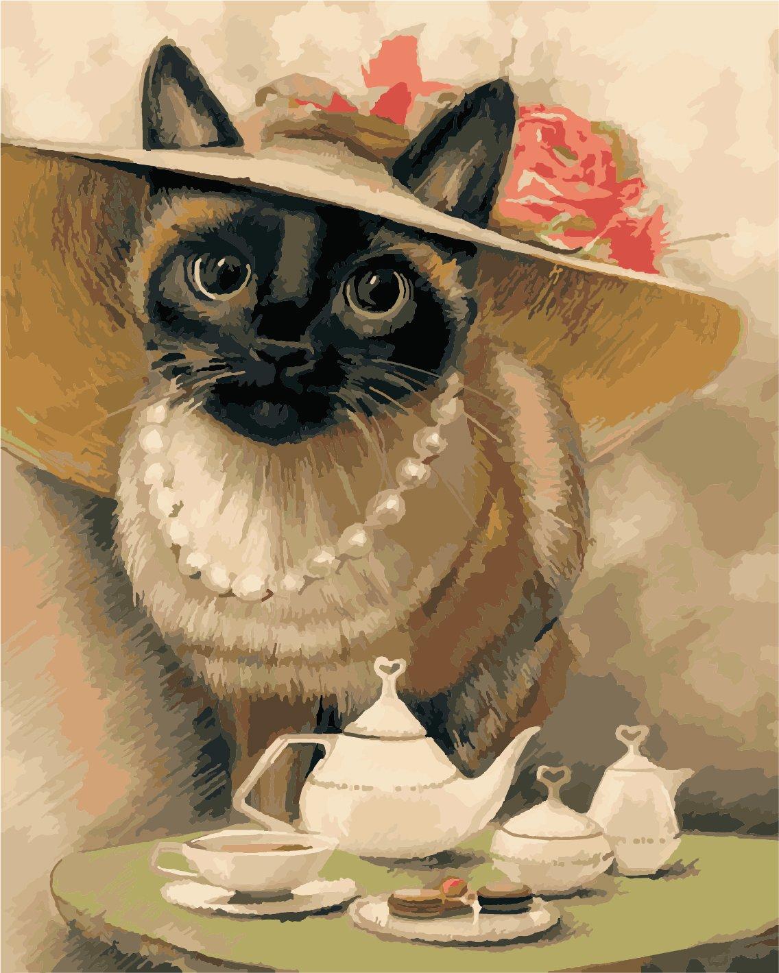 Картина по номерам Леди-кошка - VseTak— интернет-магазин ...