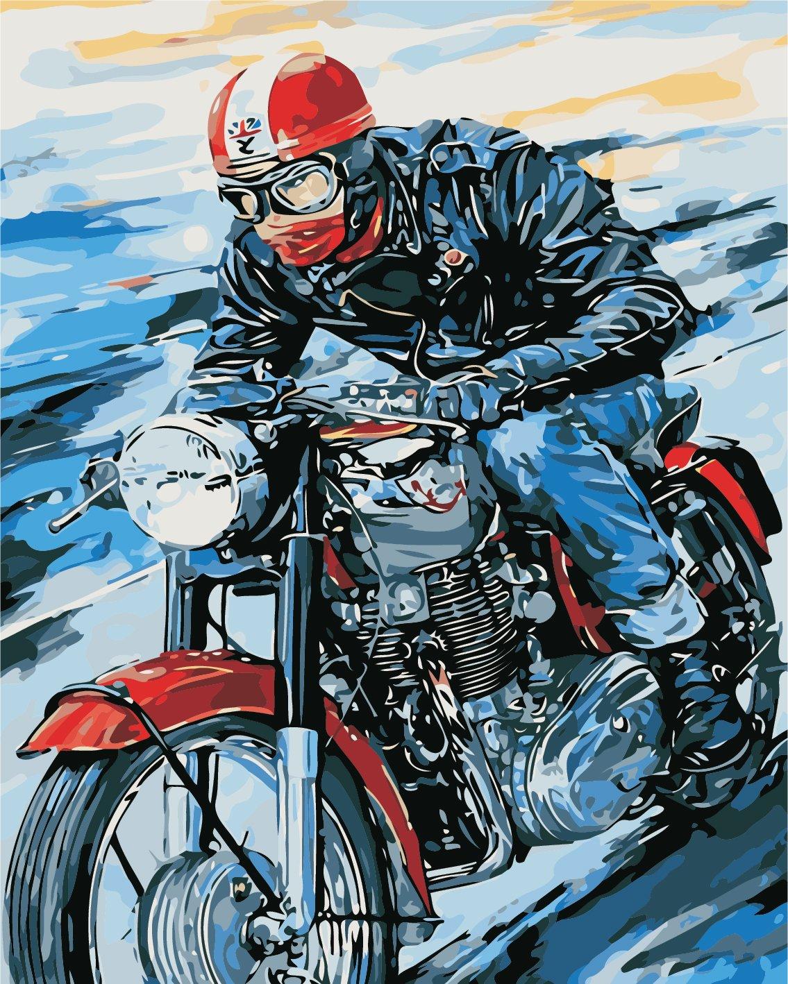Картина по номерам Мотоциклист - VseTak— интернет-магазин ...