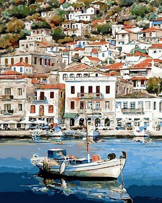Раскраски по номерам Греческий пейзаж - VseTak— интернет ...