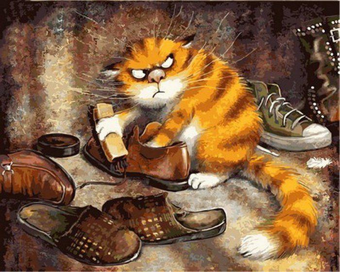 Раскраски по номерам Недовольный кот - VseTak— интернет ...