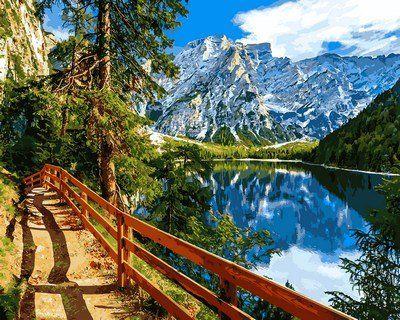 Картина раскраска по цифрам Озеро Брайес Италия - VseTak ...