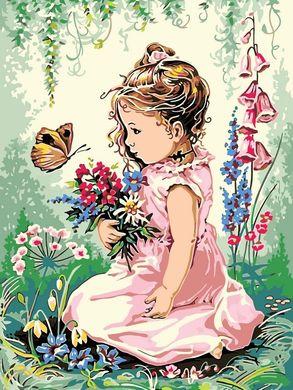 Разрисовка по номерам картина Девочка и бабочка - VseTak ...
