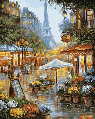Раскраски по номерам Летний дождь в Париже - VseTak ...