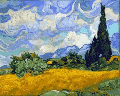 Раскраски по номерам Пшеничное поле с кипарисами - VseTak ...