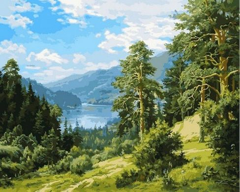 Раскраски по номерам Вид на реку - VseTak— интернет ...