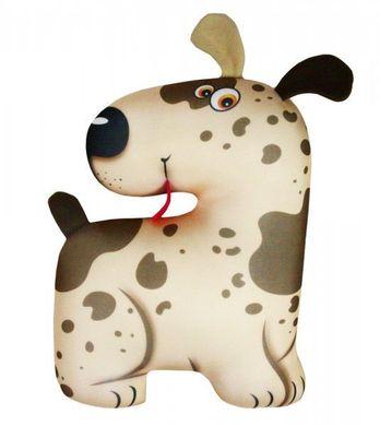 Подушка игрушка антистресс Собака Пятнышко Бежевый ...