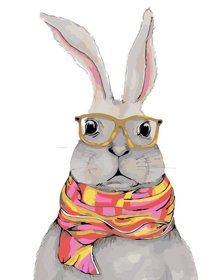 Раскраска по номерам Деловой кролик - VseTak— интернет ...