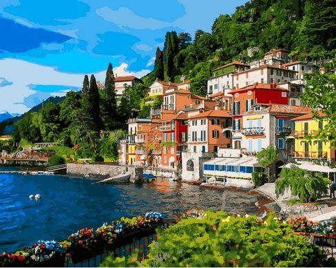 Картина раскраска по цифрам Италия Озеро Комо - VseTak ...