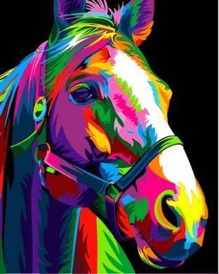 Раскраски по номерам Радужная лошадь - VseTak— интернет ...